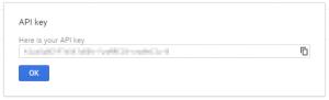Google API Console - Browser API Popup