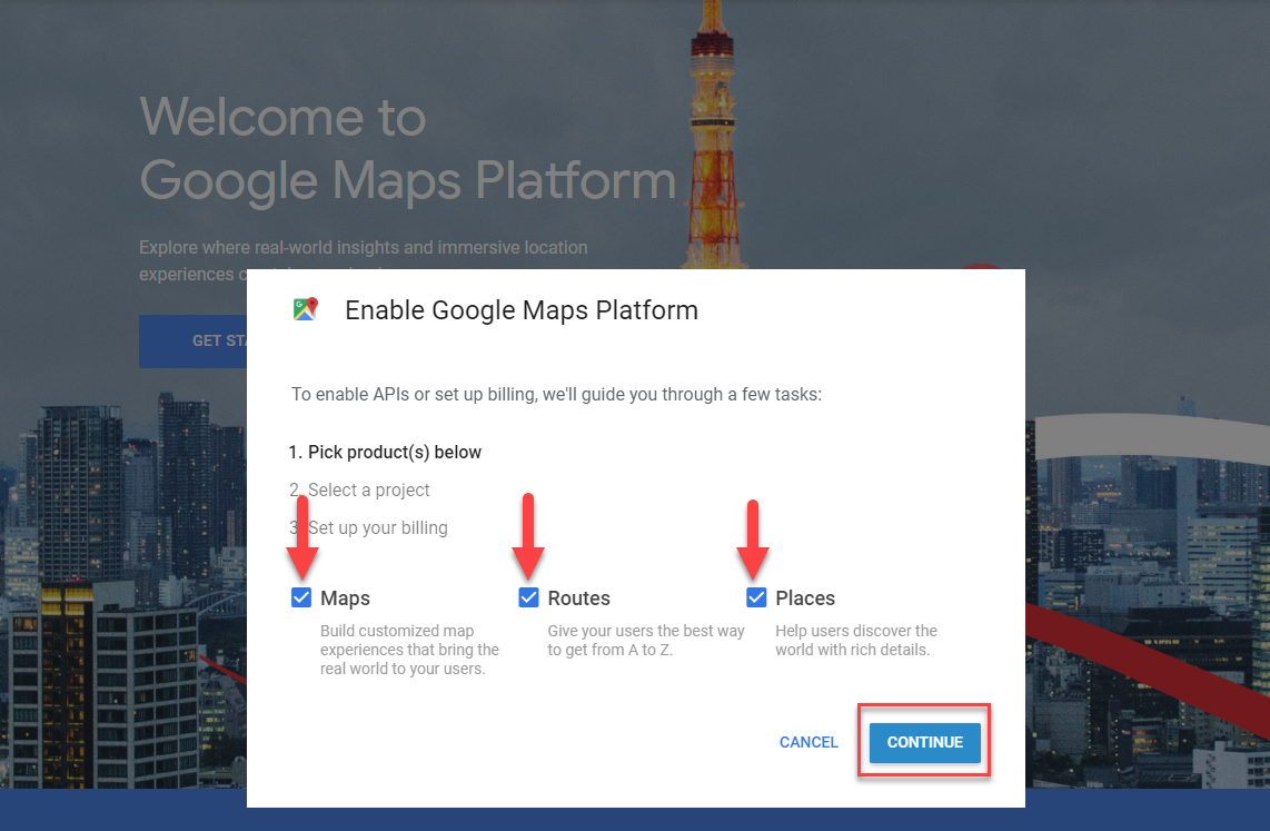 Learn how to Create Google Maps API Keys for use with