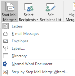 Print your directory using Word 2016 and its Mail Merge feature