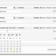 Screen Capture – Feature Preview: Dates