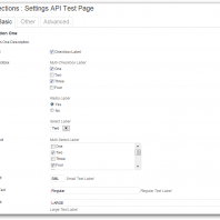 Connections Settings API Wrapper Class for WordPress
