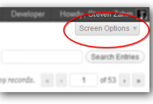 Screen Capture - Screen Options