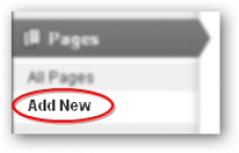 Step 9: Create a new page.