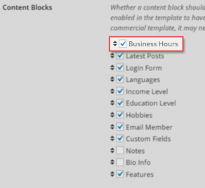 Content Block Settings